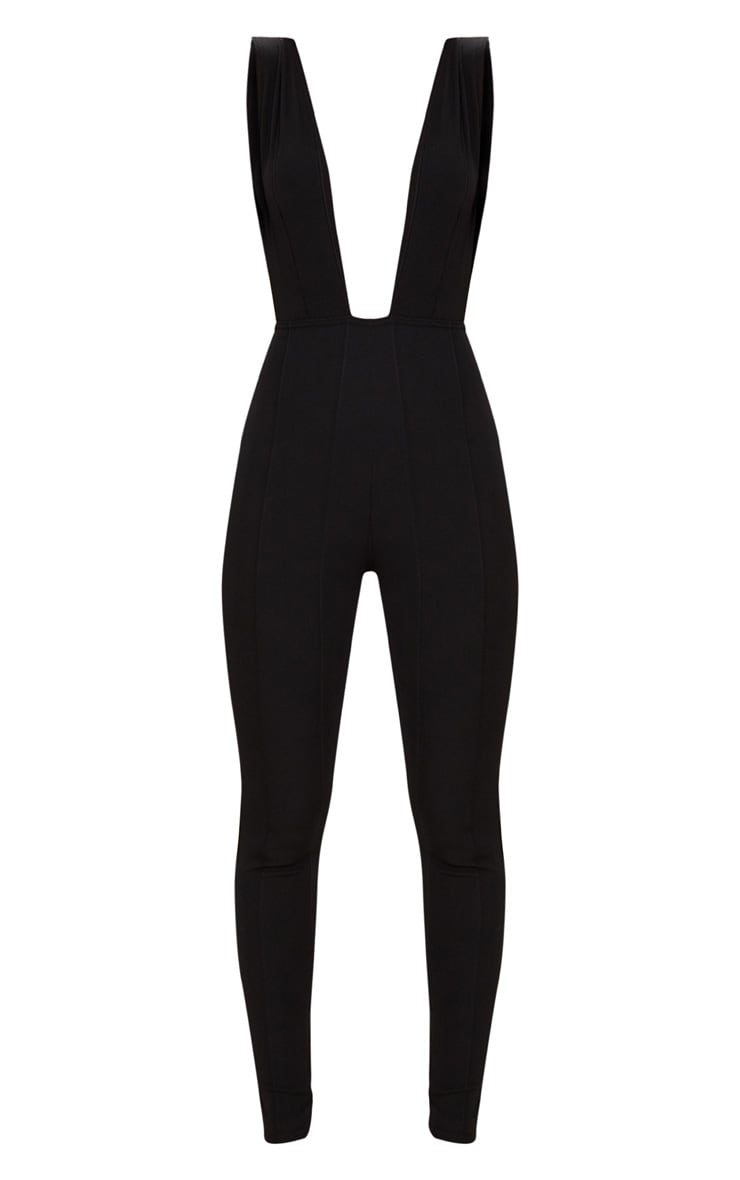 Black Bandage Plunge Jumpsuit 3