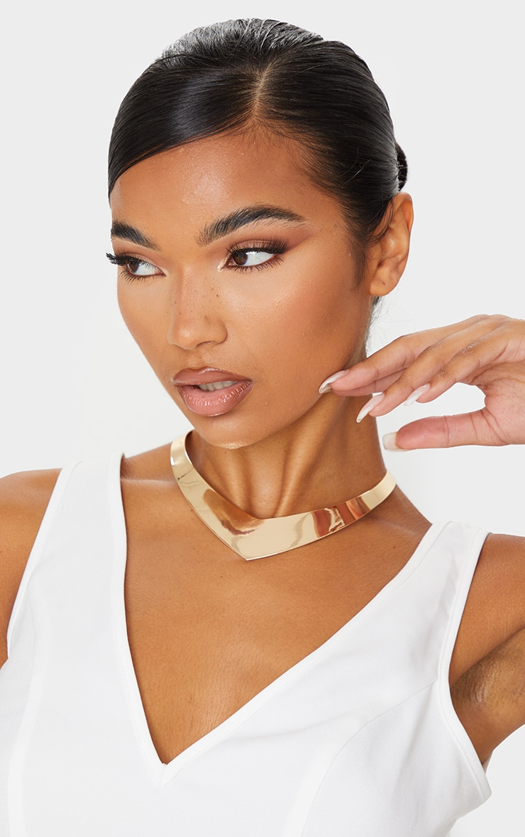 Gold Dipped Pointed Edge Choker 1