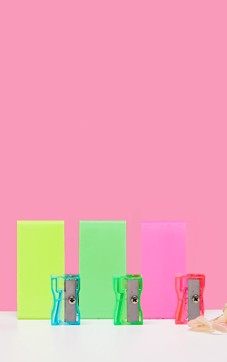 Neon Sharpener and Rubber 3 Pack