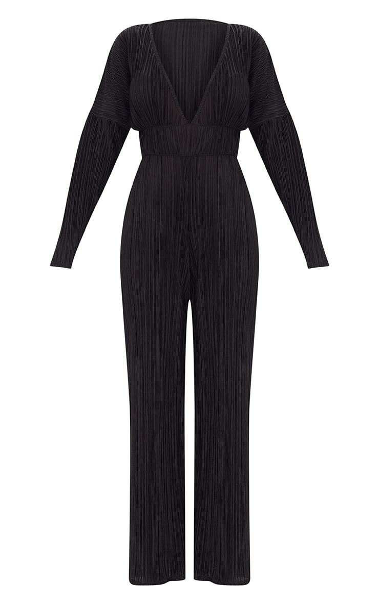 Black Long Sleeve Pleated Jumpsuit 3