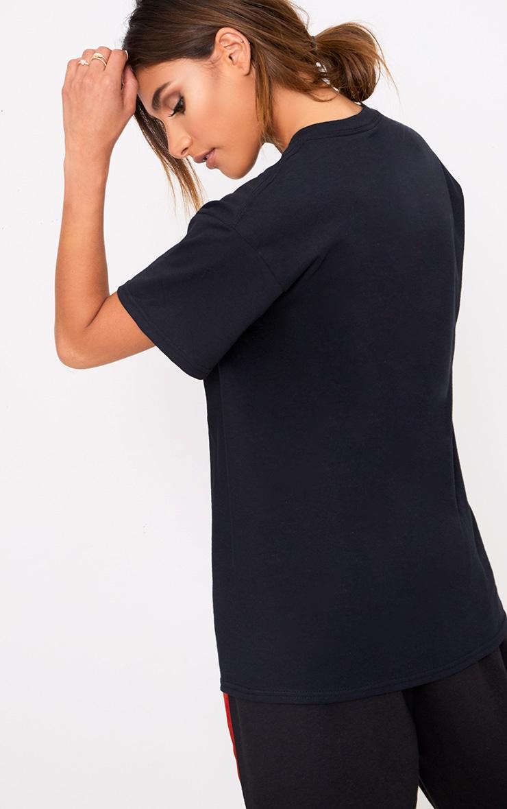 T-shirt à slogan Iconic noir  2