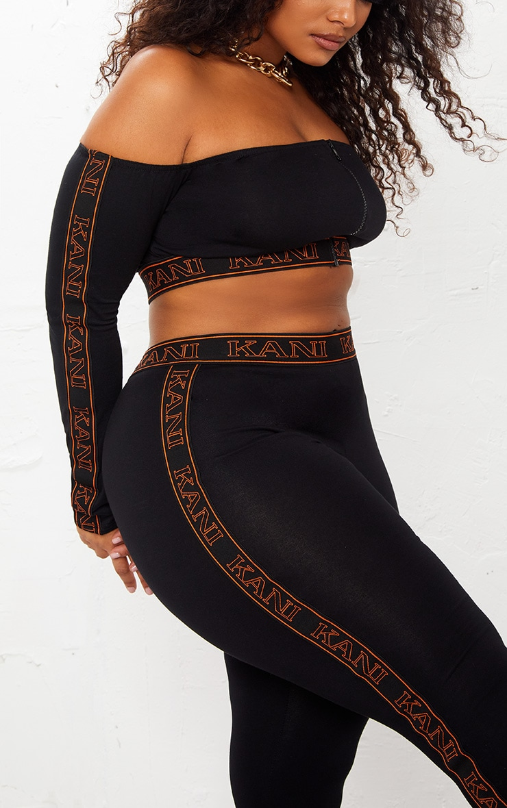 KARL KANI Black Tape Leggings 7