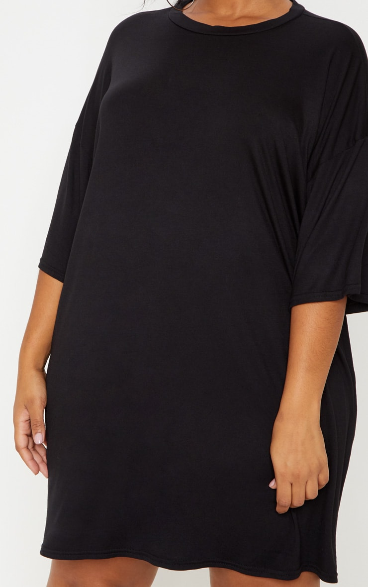 Plus Black T-shirt Dress 5