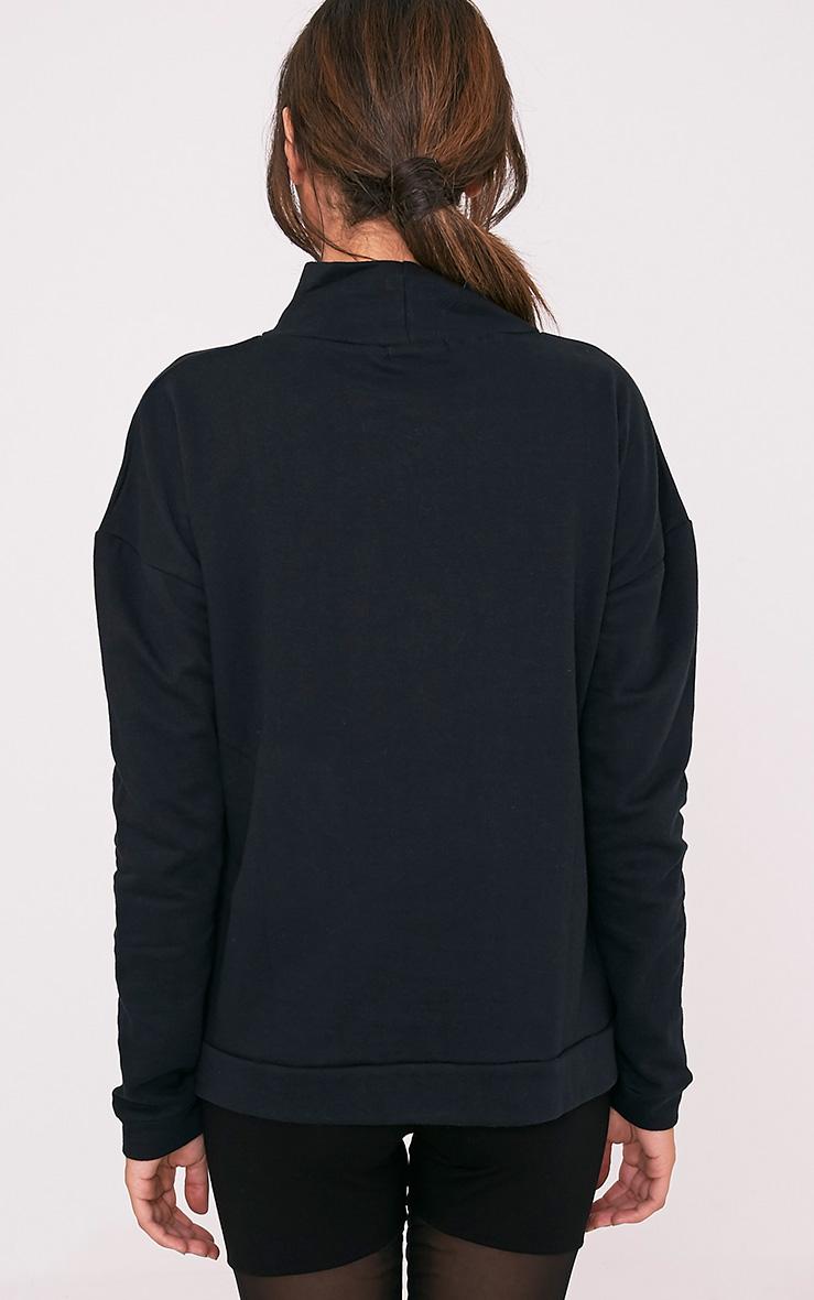 Ema Black Turtle Neck Oversized Sweater 2