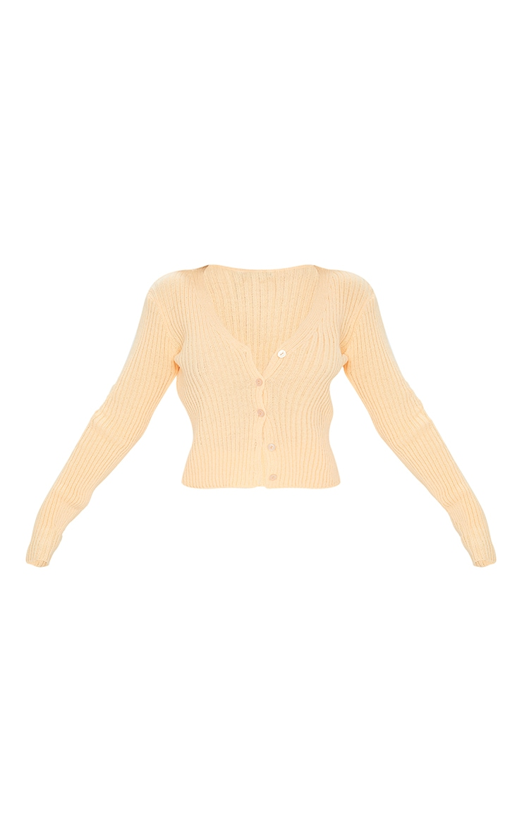 Peach Button Front Cardigan 5