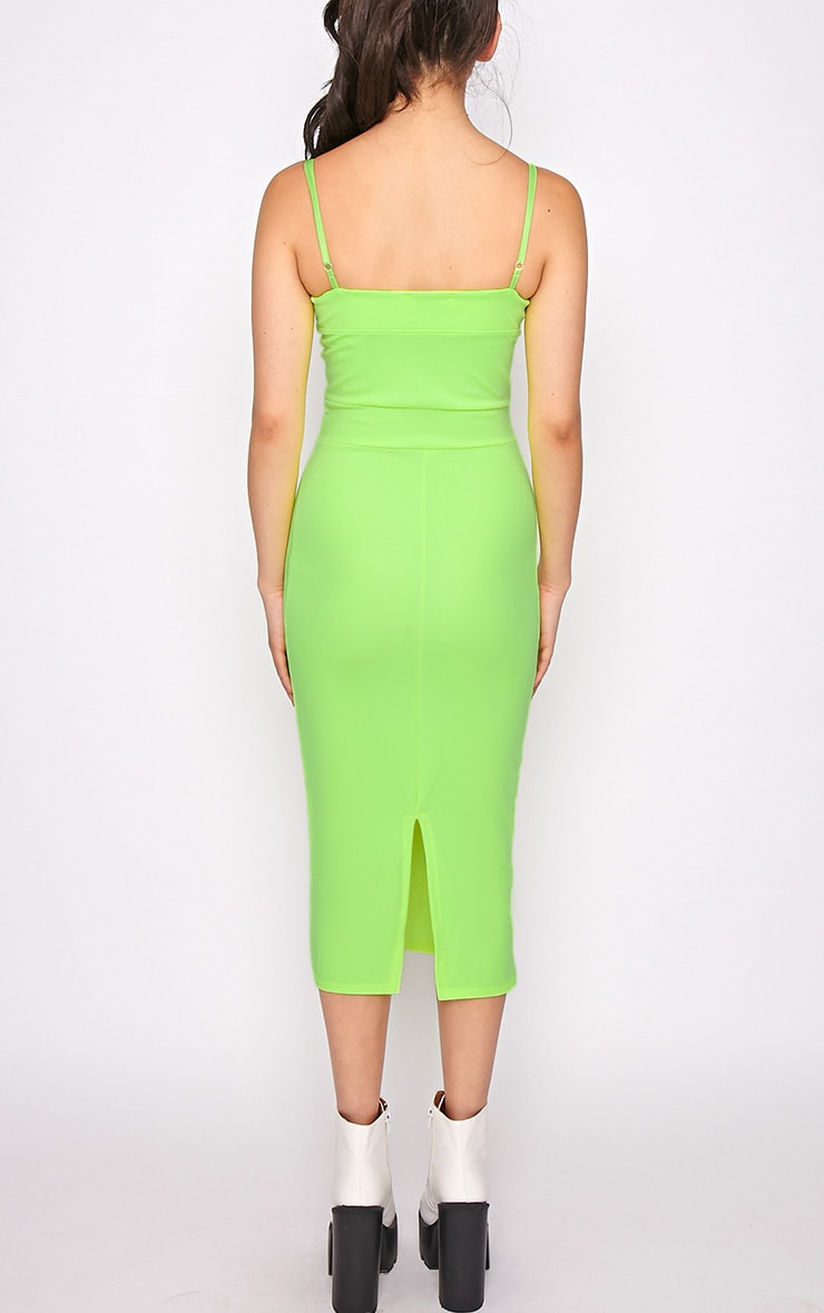 Traci Lime Bodycon Midi Dress 2