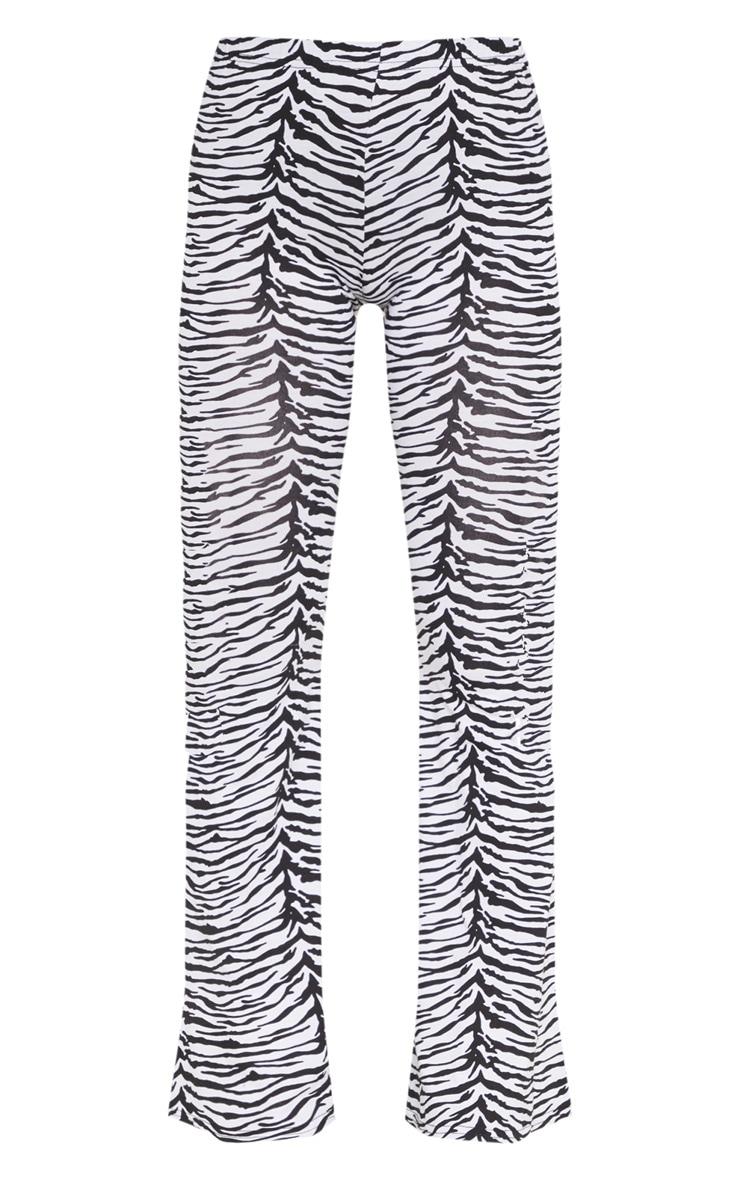 Petite Zebra Print Flare Trousers 3