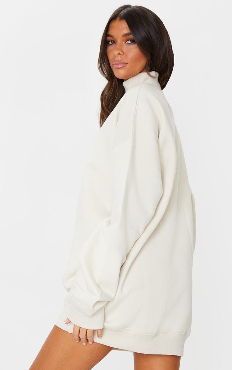 Oatmeal Limited Edition High Neck Oversized Sweatshirt Dress 2