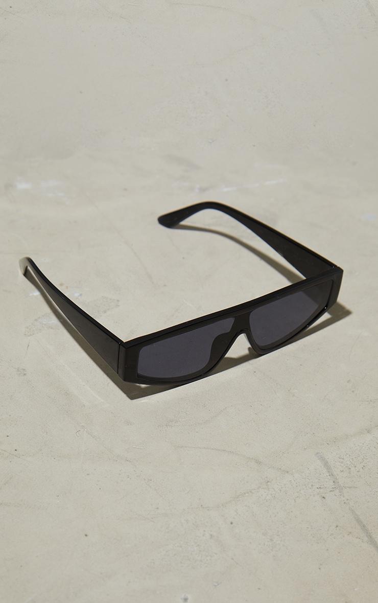 Black Slimline Visor Sunglasses 3