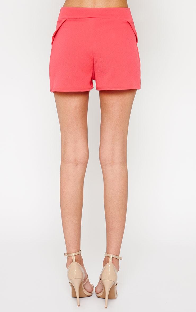 Devon Pink Wrap Detail Shorts 4