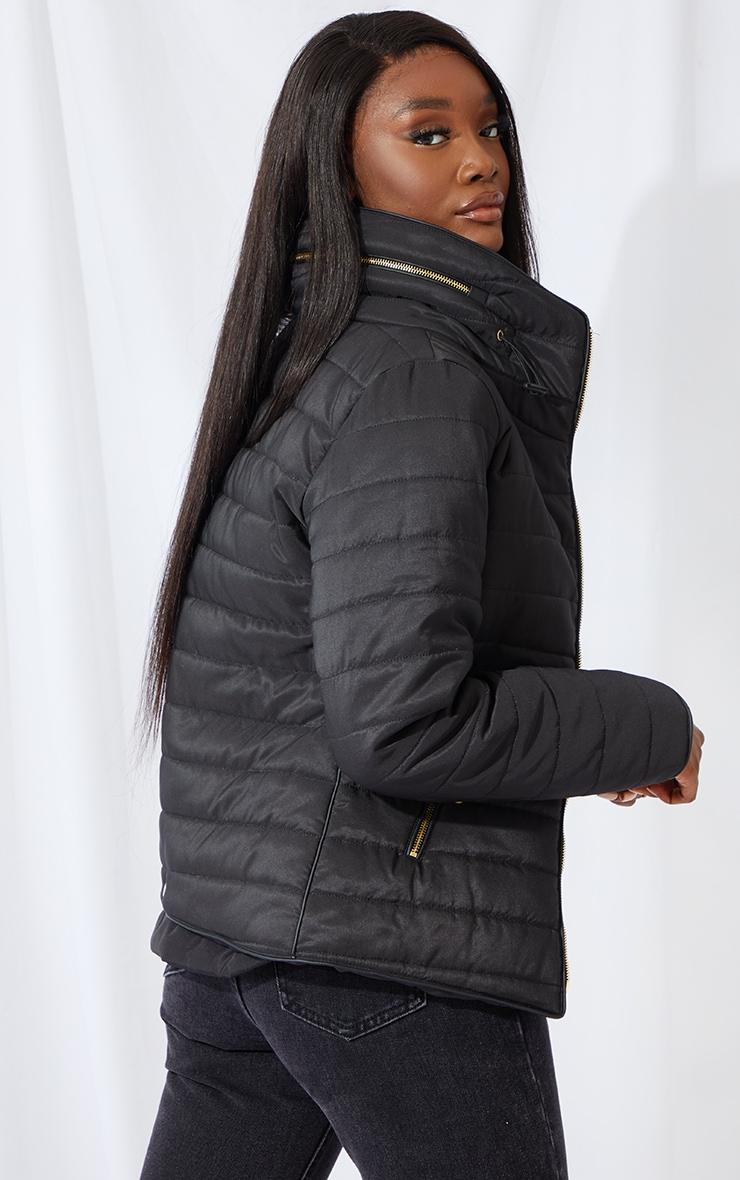Tall Black Mara Puffer Jacket 2