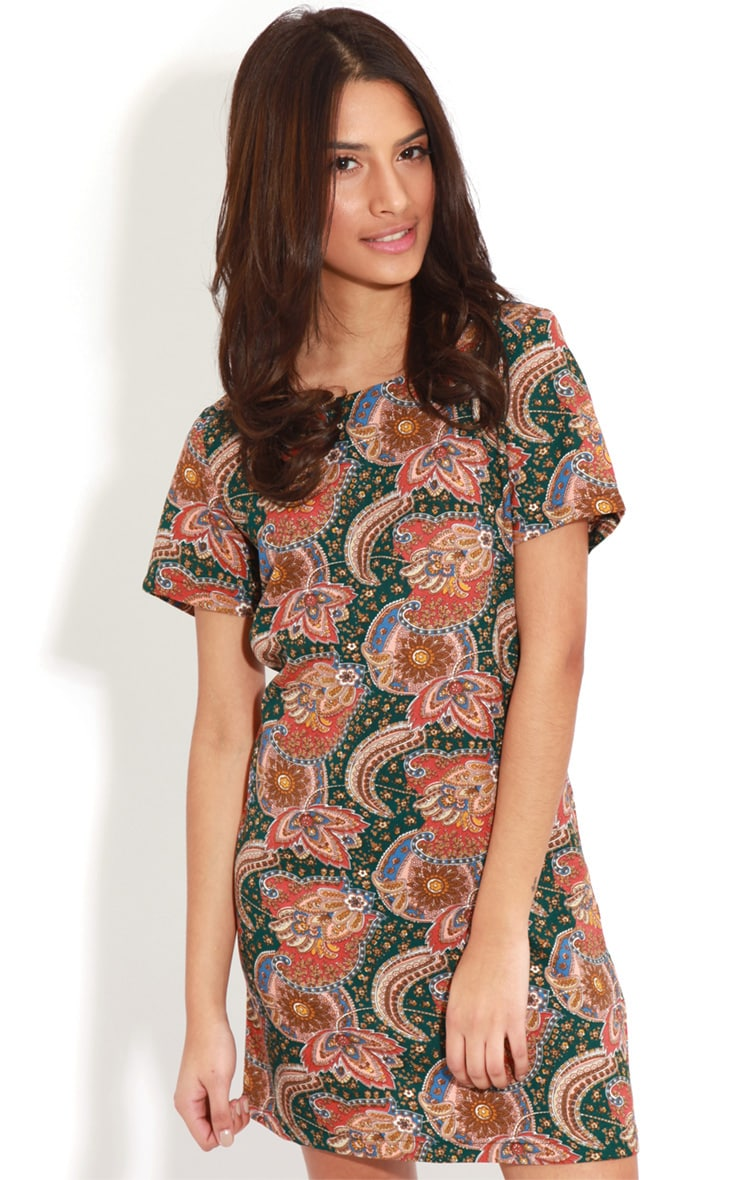 Nila Green Paisley Shift Dress 4