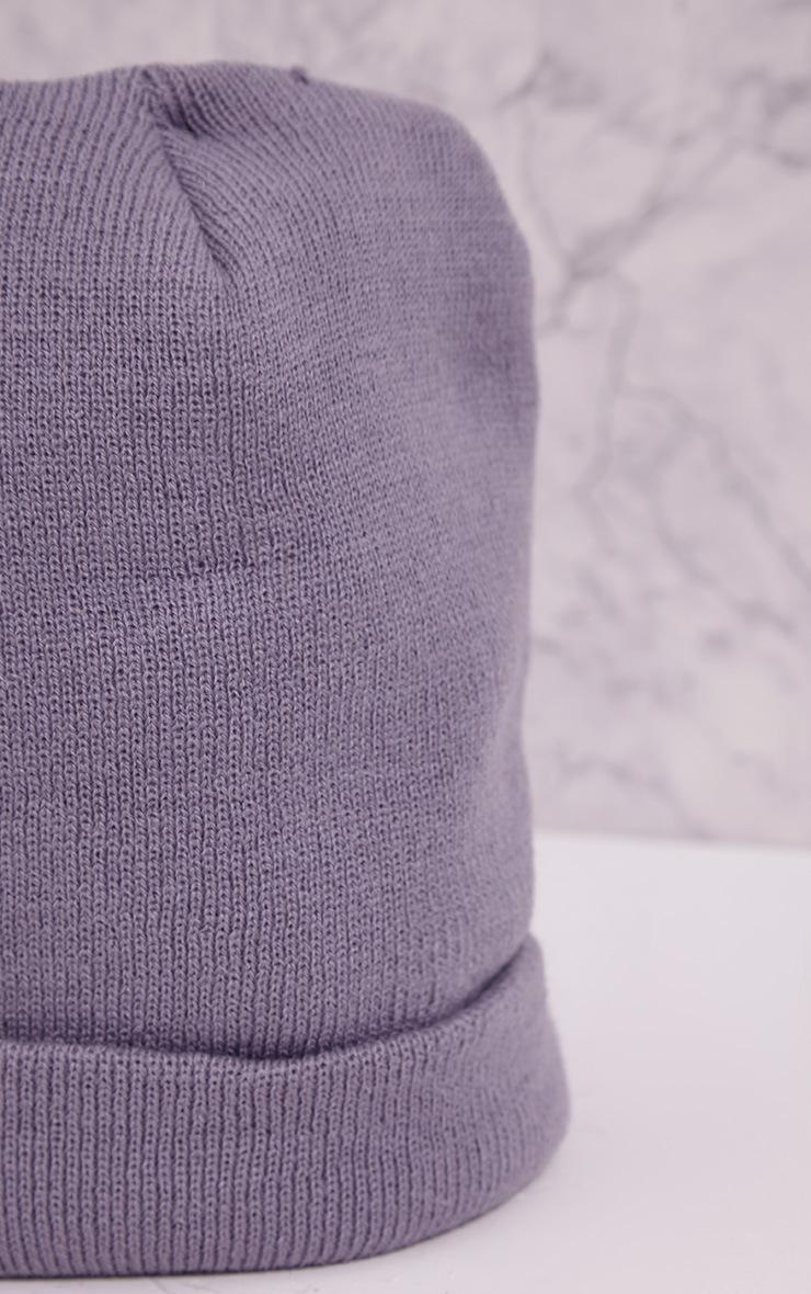 Linie Grey Beanie Hat 4