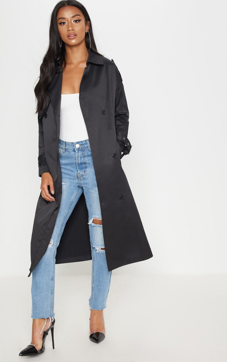 Petite Black Trench Coat 1