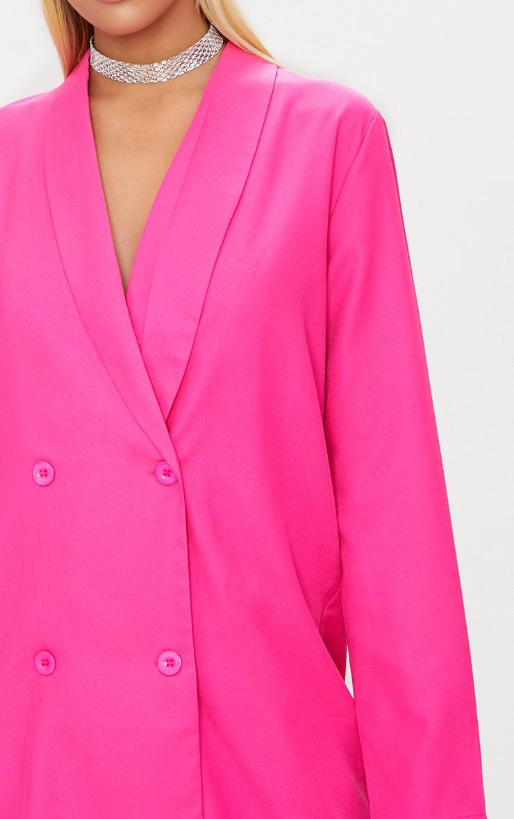 Fuchsia Oversized Blazer Shift Dress 5