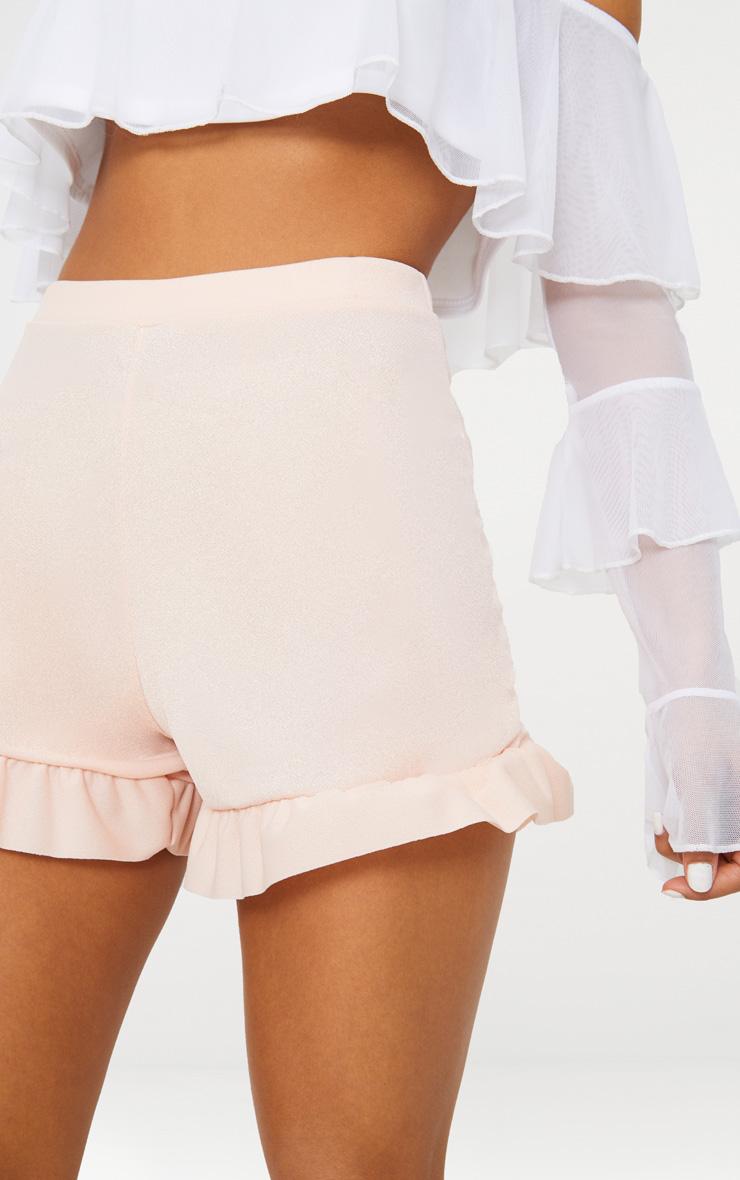 Nude Frill Hem Shorts 6