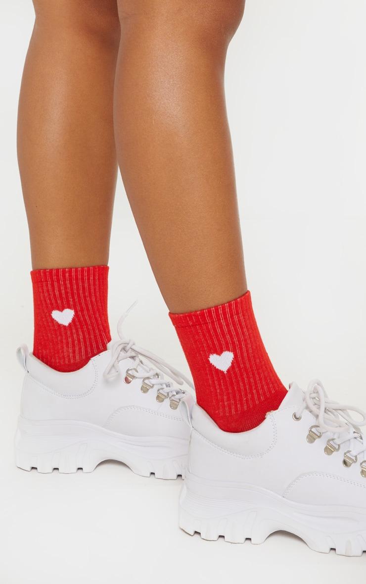 Red Heart Knitted Socks 2