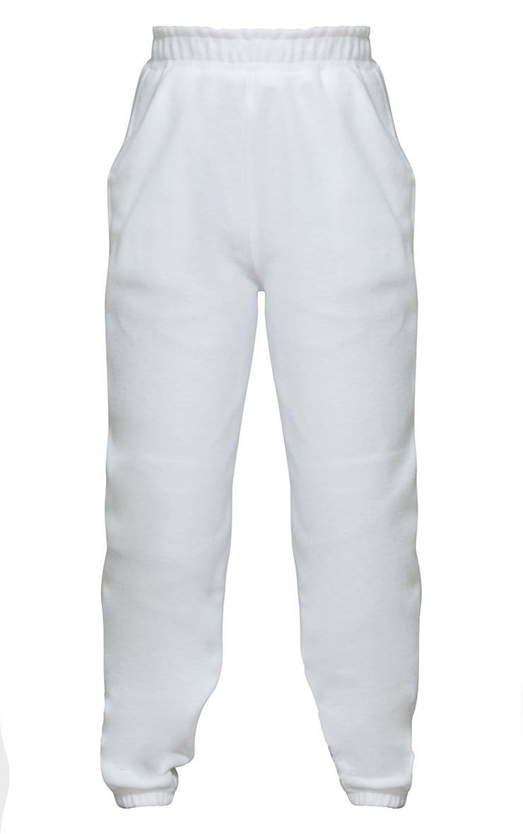 Petite White Brushed Sweat Oversized Joggers 5
