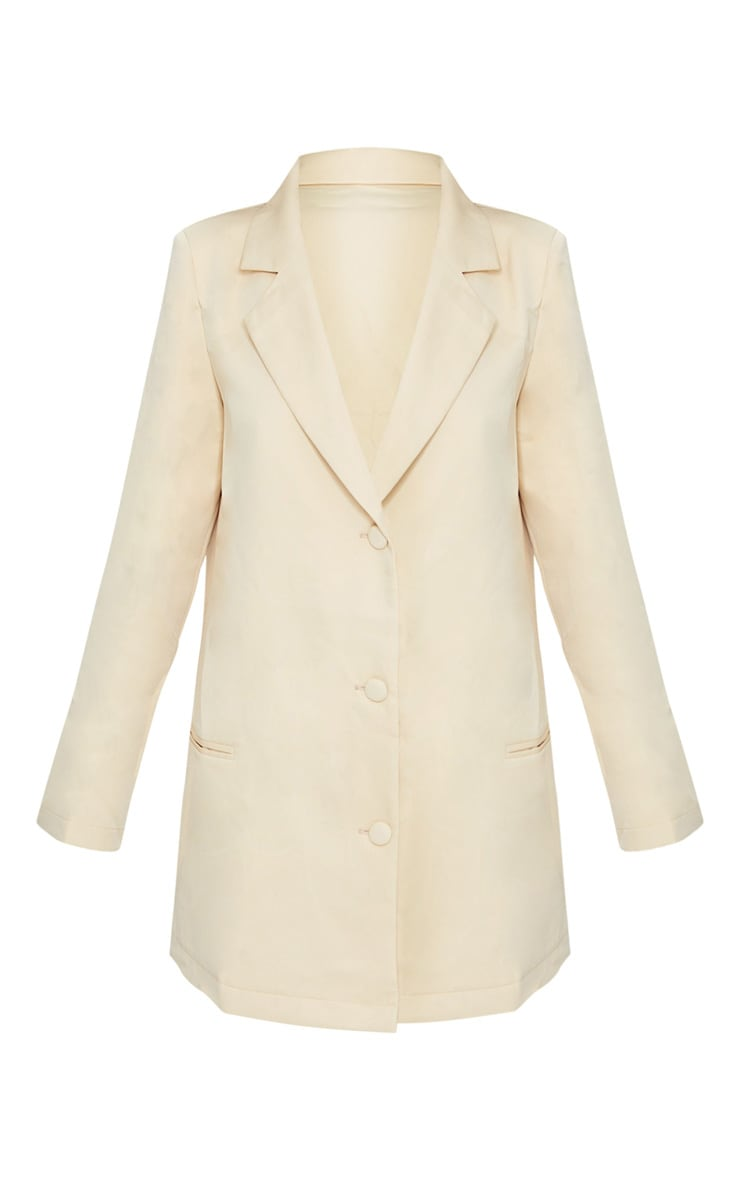 Petite Stone Deep Plunge Blazer Dress 5