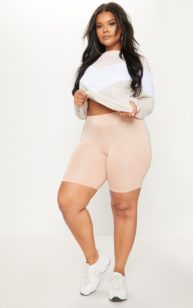 PLT Plus - Short-legging basique nude 1