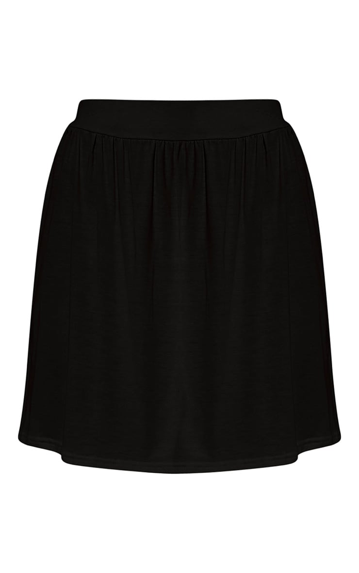 Basic minijupe noire fluide en jersey 6