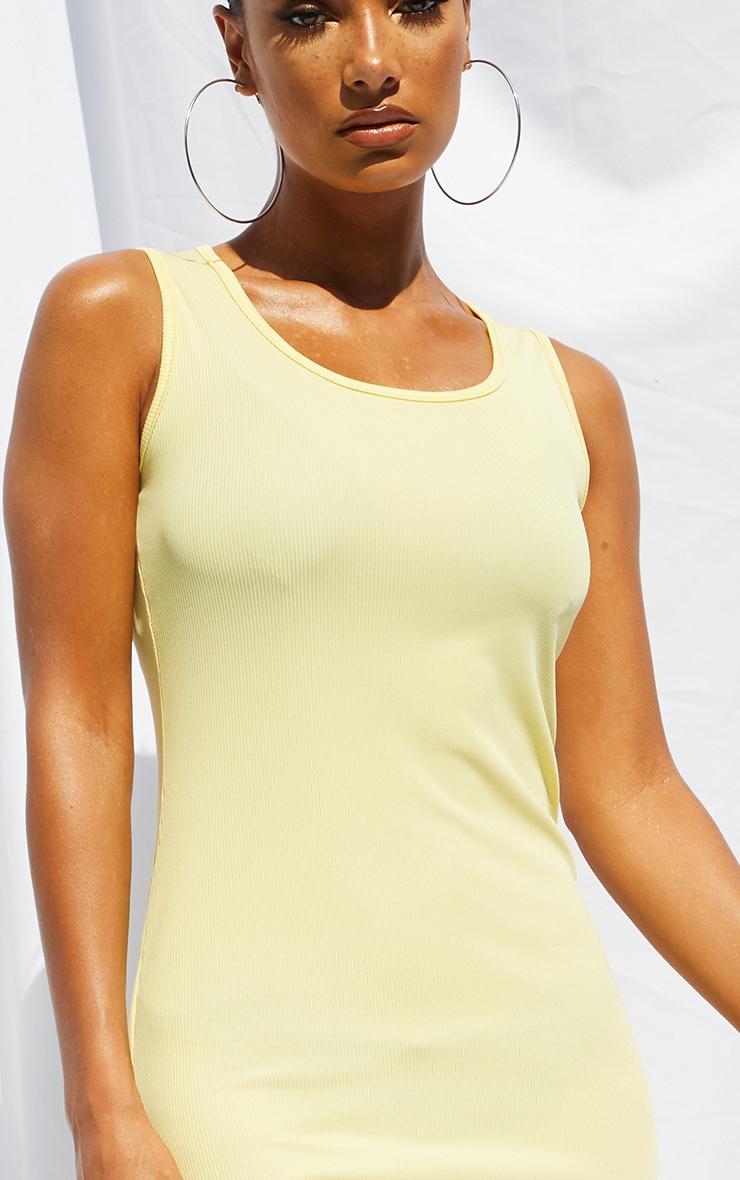 Lemon Basic Rib Maxi Dress 4