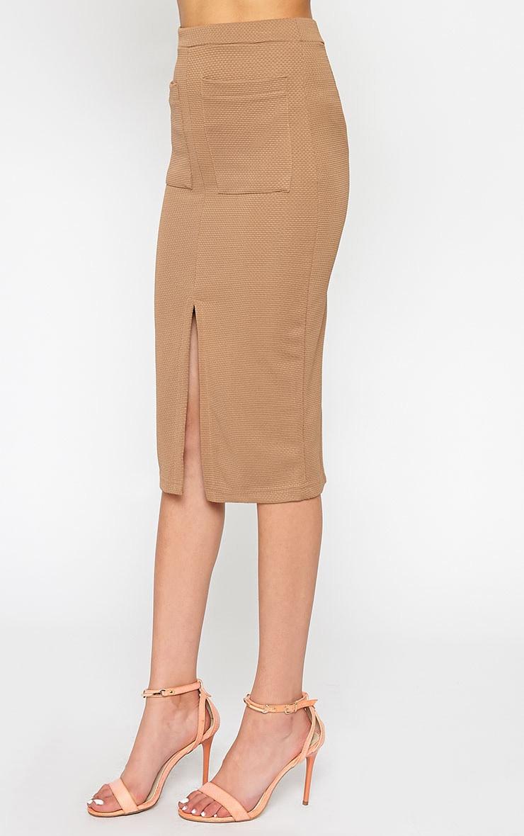 Nala Camel Pencil Pocket Skirt 4