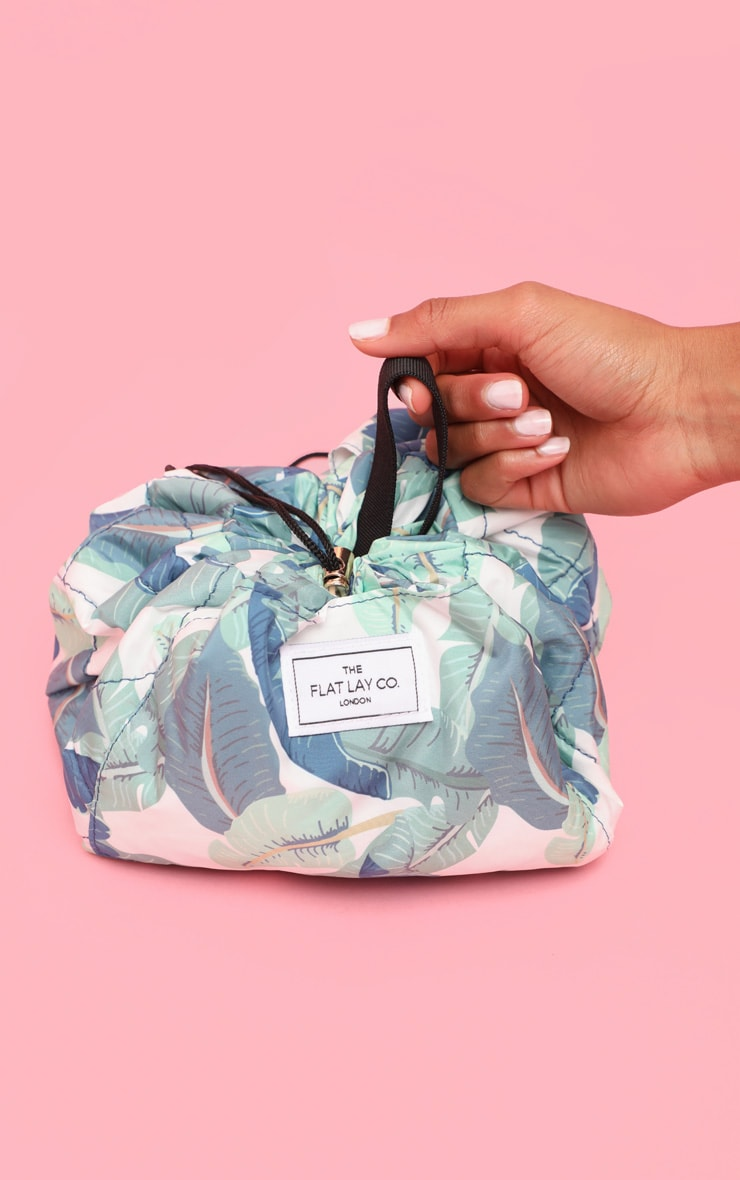 The Flat Lay co. Makeup Bag Tropical Leaves image 1