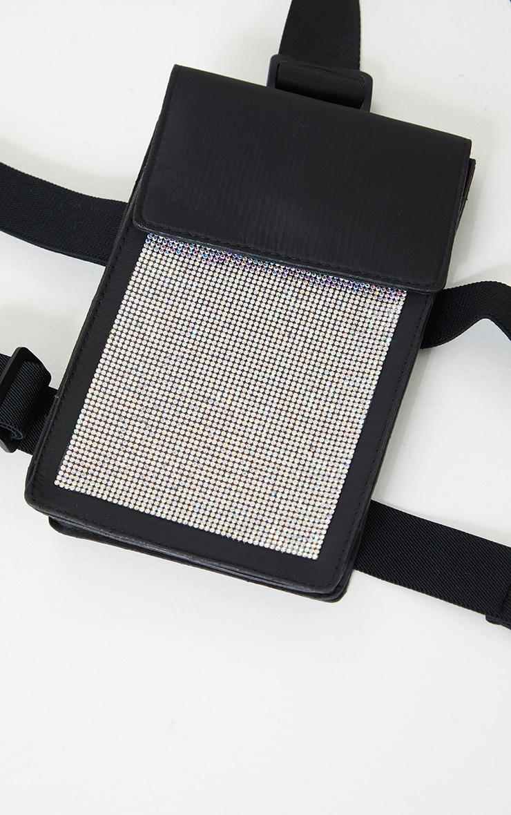 Black Diamante Leg Belt Bag 2