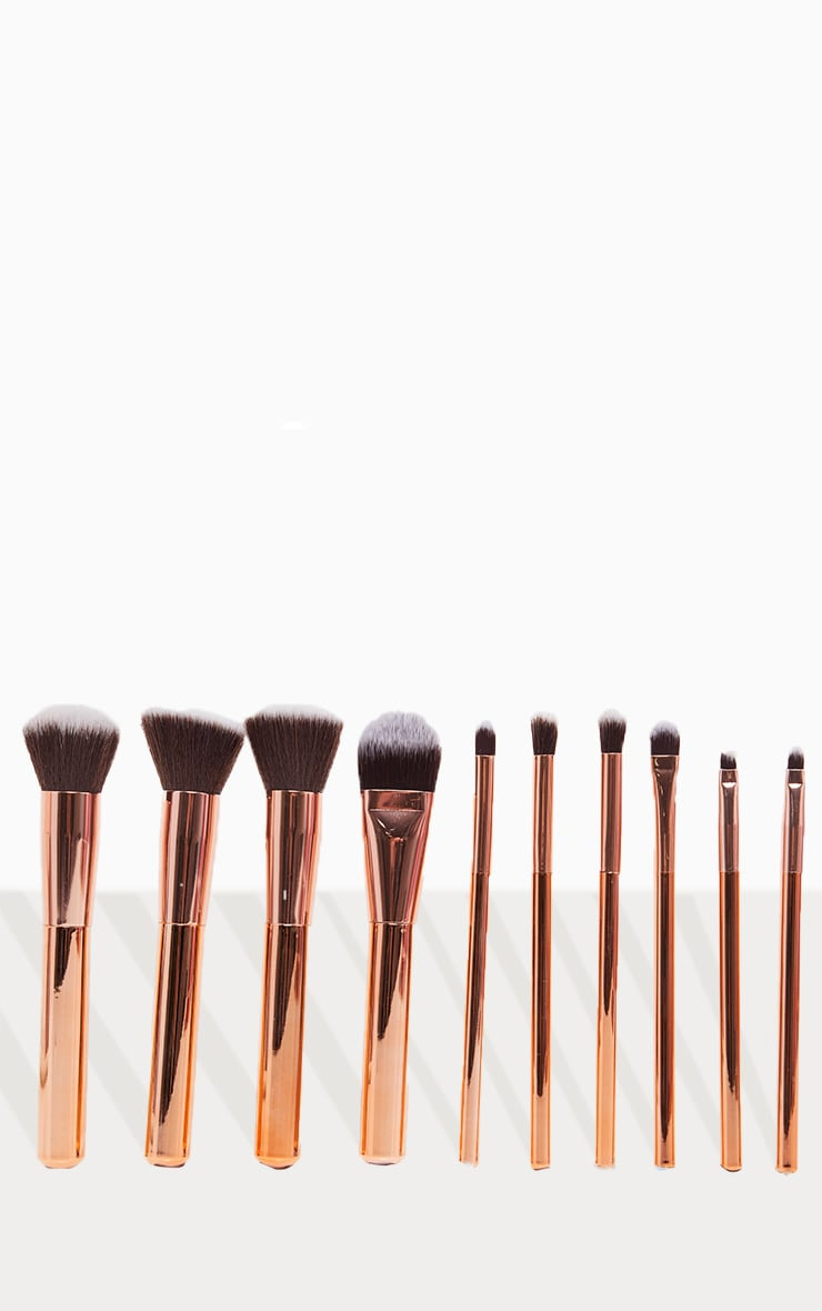 Zoe Ayla 10 Piece Luxurious Gold Make-up Brush Set 3