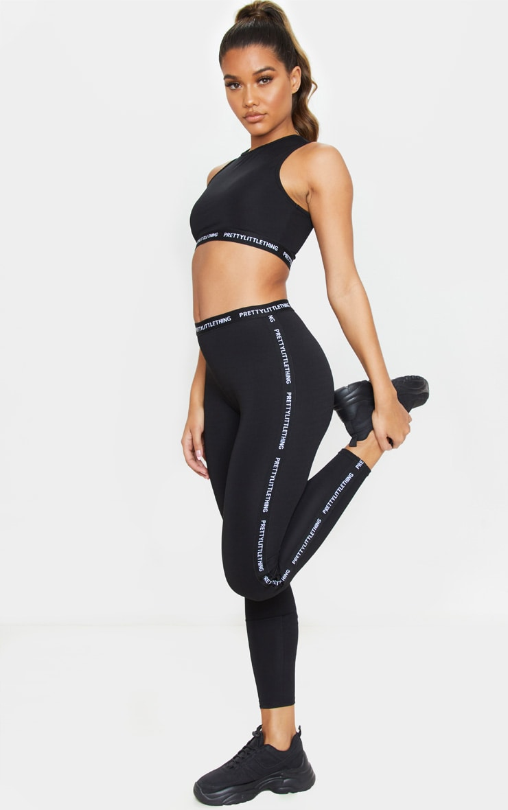 PRETTYLITTLETHING Black Gym Leggings 1