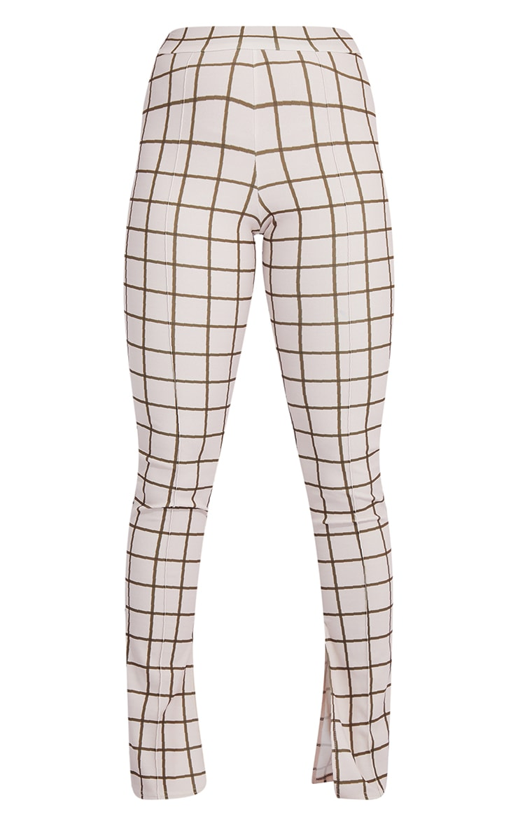 Stone Check Split Hem Skinny Pants 5