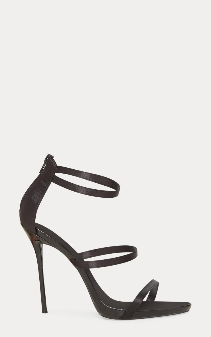 Black Triple Strap Sandal 3