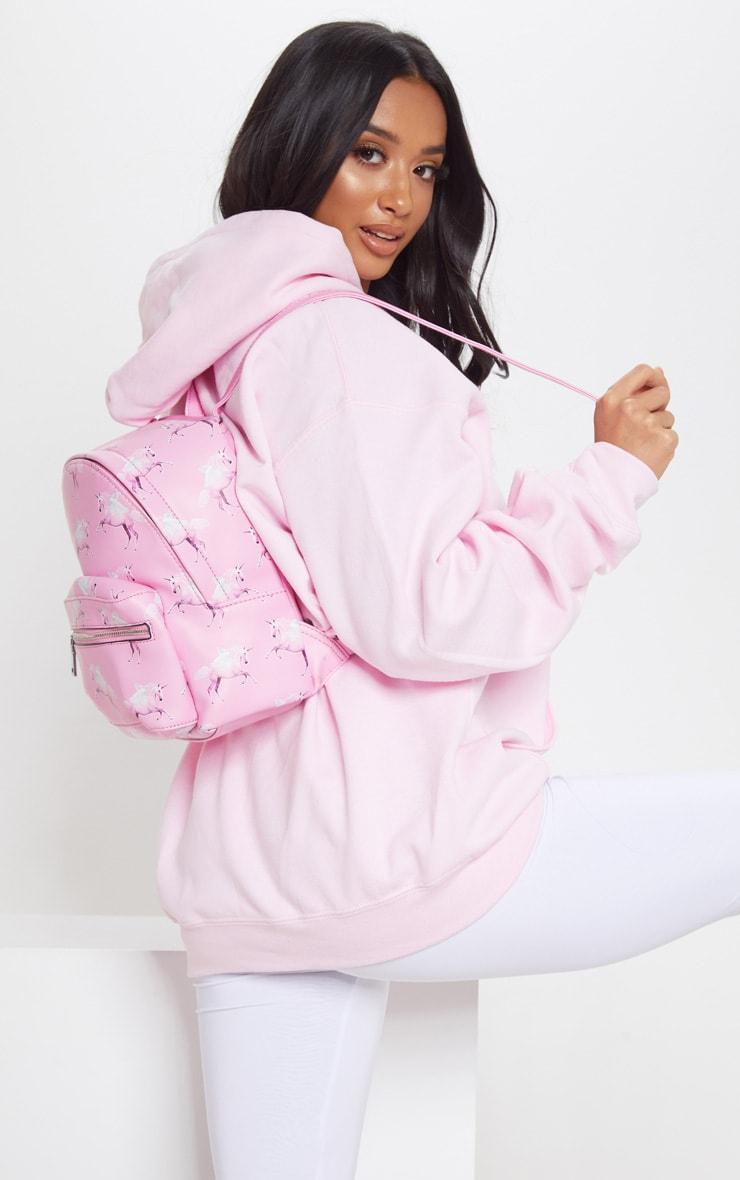 PRETTYLITTLETHING Unicorn Pink PU Backpack 3