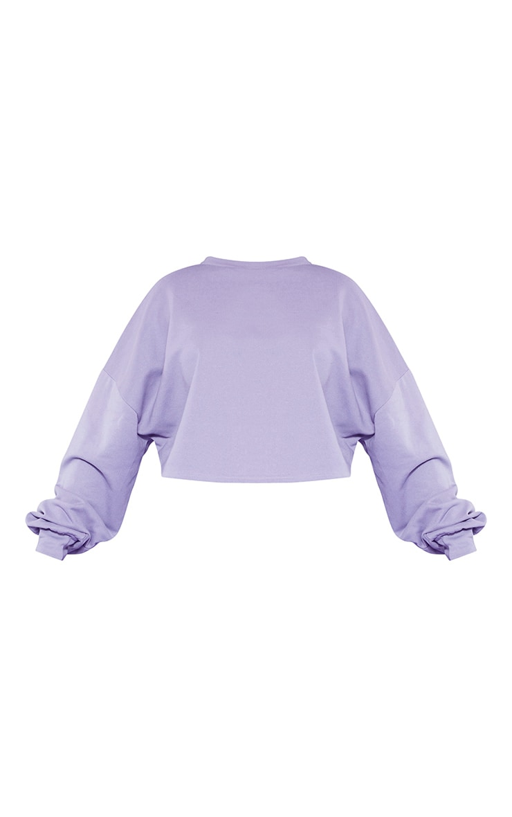 RECYCLED Plus Violet Crop Sweater 3