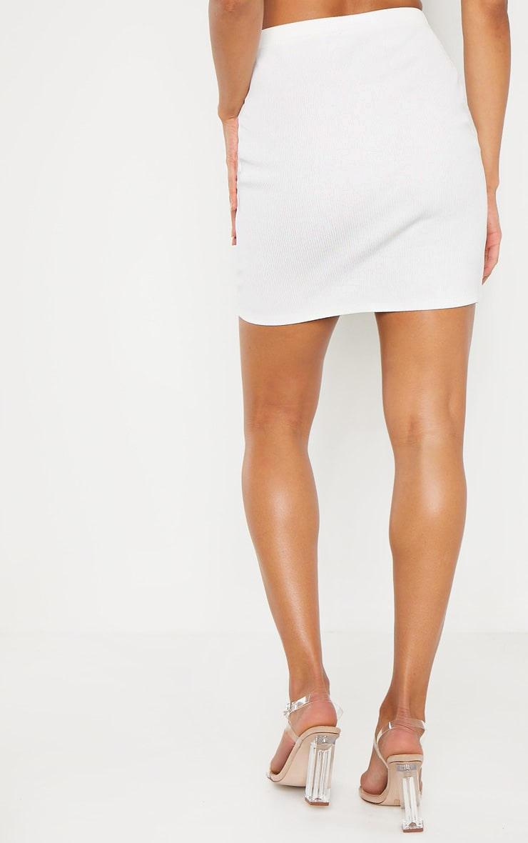 White Cut Out Sleeve Bodycon Dress 4