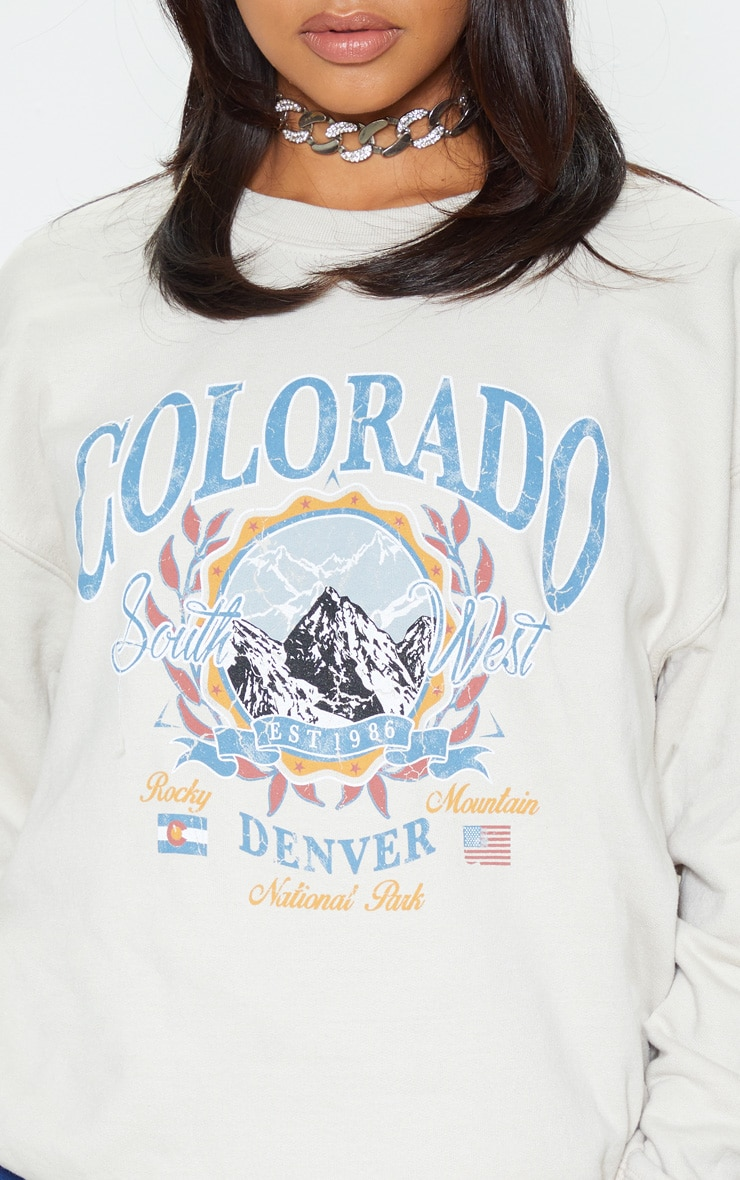 Pull fauve à slogan Colorado 5
