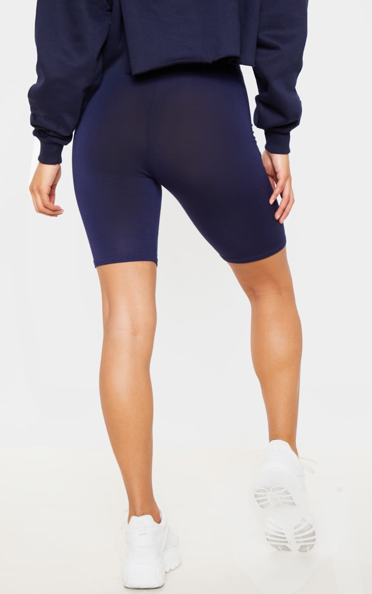 Navy Basic Bike Shorts 5