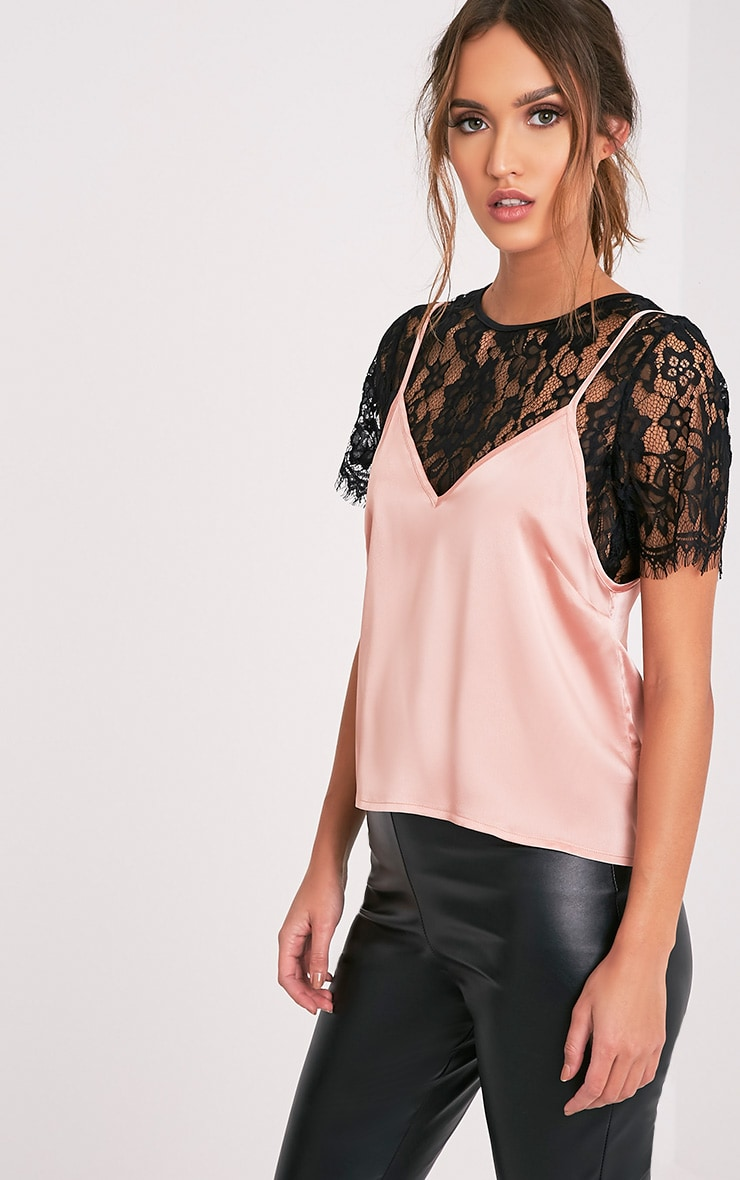 Syrah Rose Gold Satin Cami Top 4
