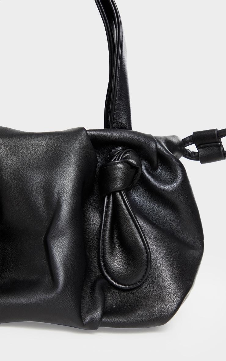 Black Double Knot Shoulder Bag 4