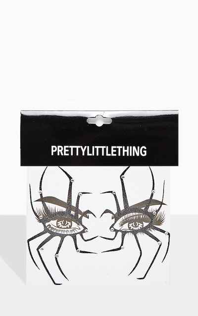 PRETTYLITTLETHING Spider Glam Face Sticker