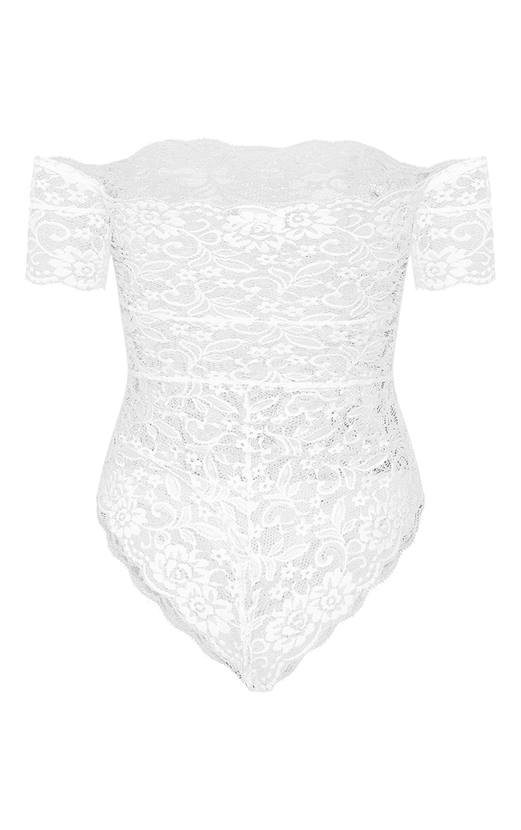 White Bardot All Over Lace Body 4