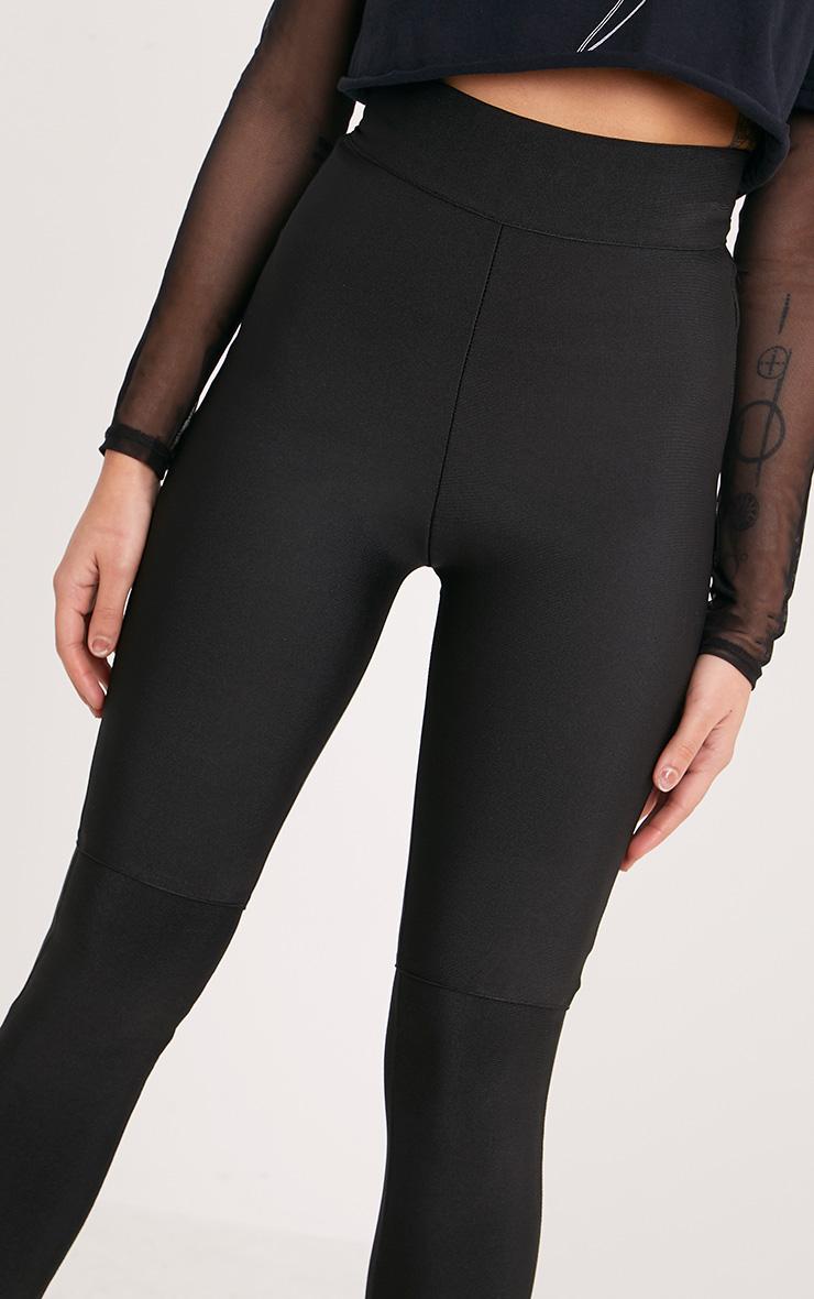 Raziela Black Bandage High Waisted Trousers 5