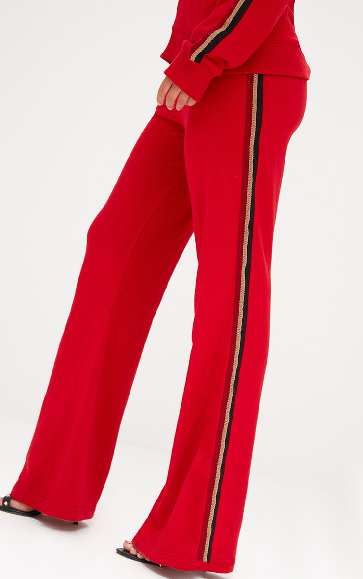 Red Flared Track Pants  6