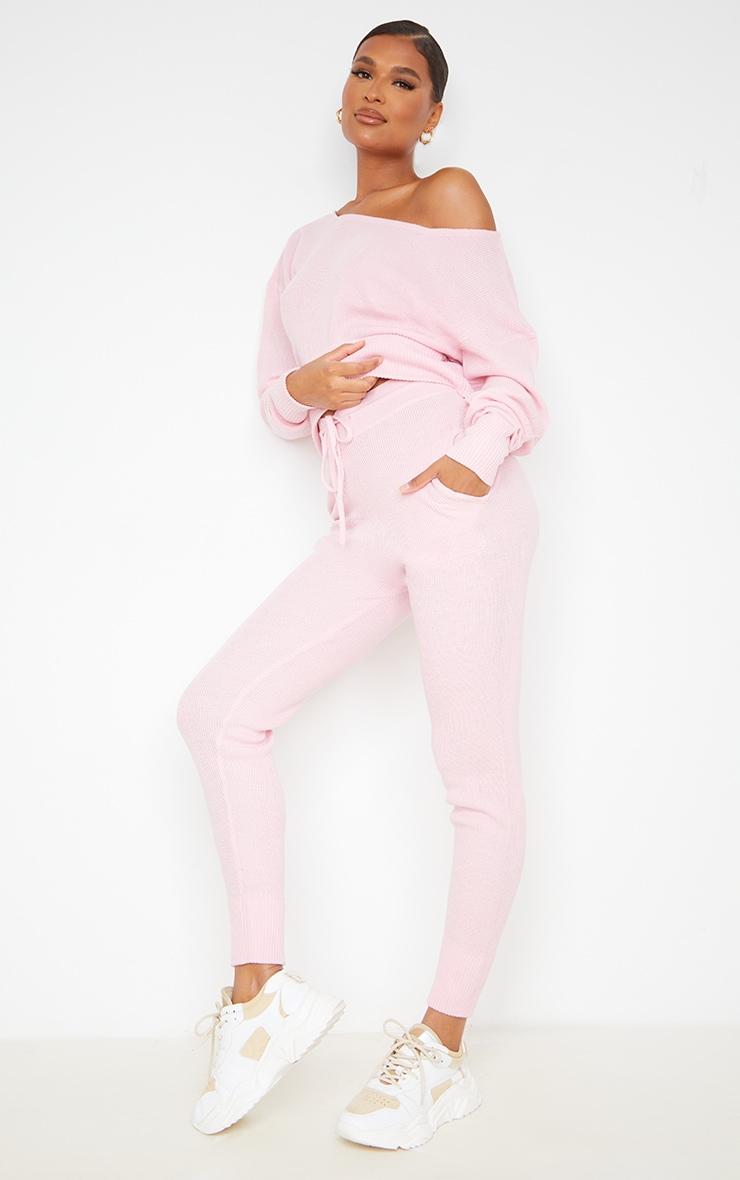 Auriel Pink Jogger Jumper Knitted Lounge Set 3