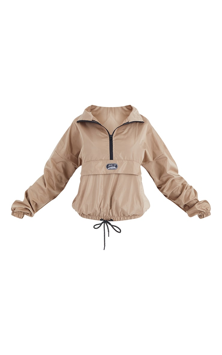 PRETTYLITTLETHING Sand Pull Over Jacket 5
