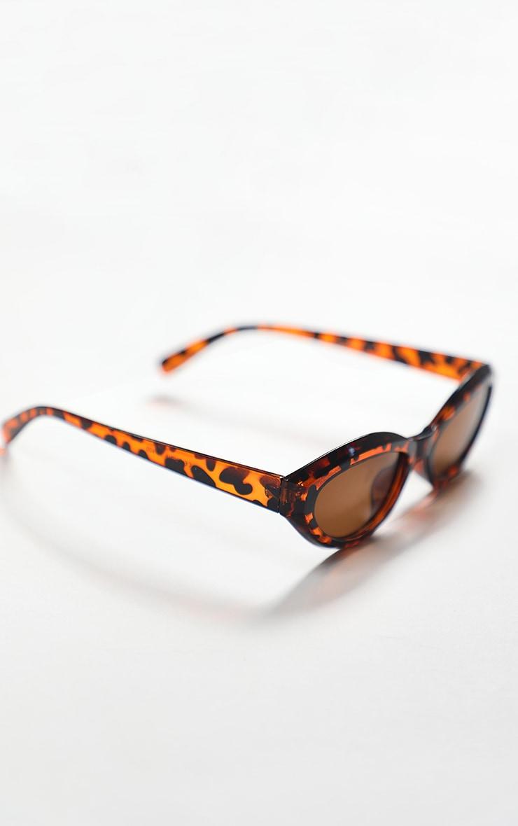 Brown Tortoise Round Frame Oversized Sunglasses 4
