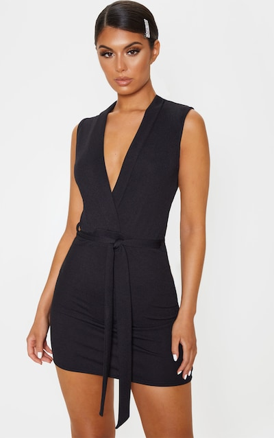Black sheer strappy textured glitter bodycon dress young ruby