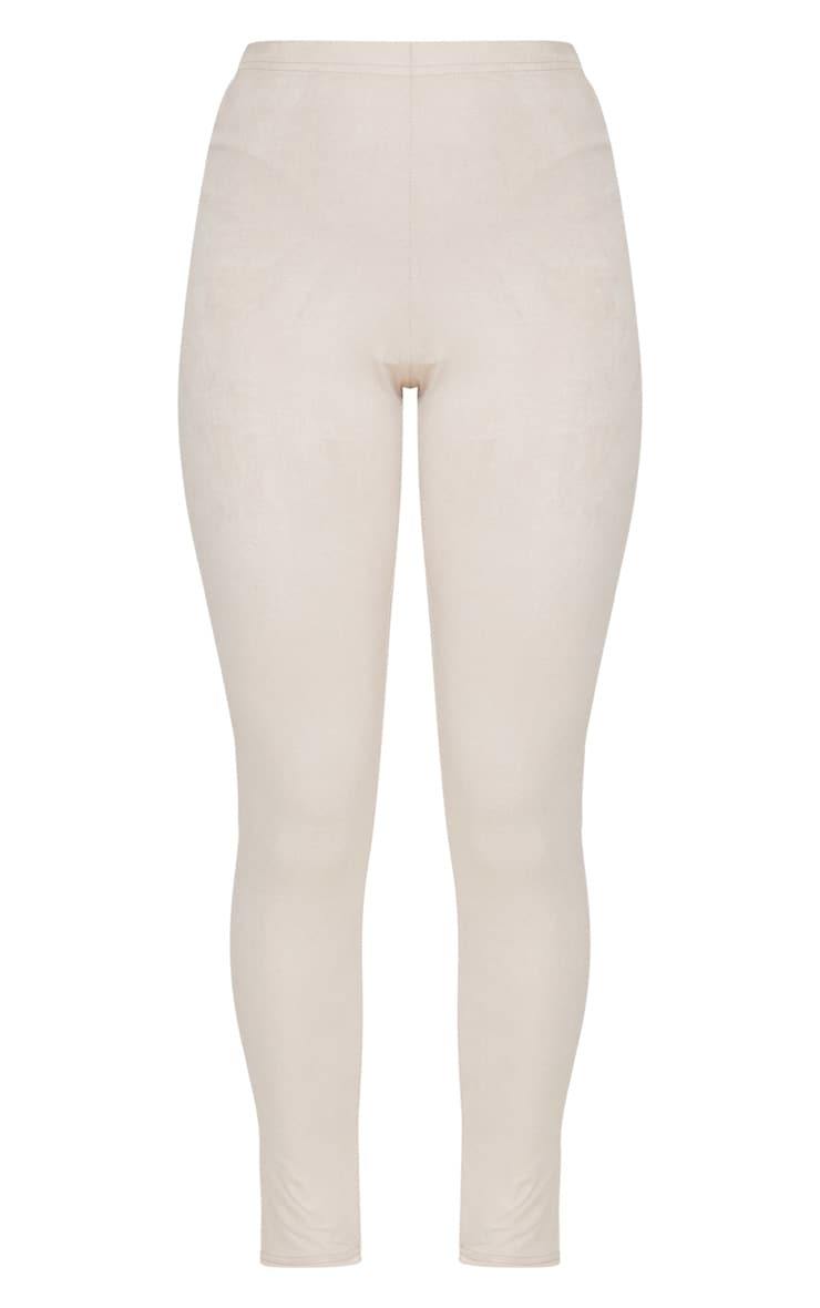 Cream Faux Suede Skinny Trousers 3