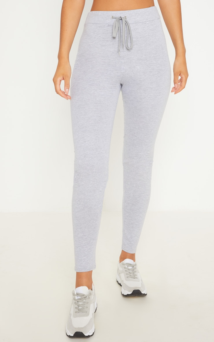 Charcaol Grey Drawstring Cotton Legging 2